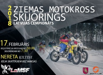 Skijoring and winter motocross in Stameriena